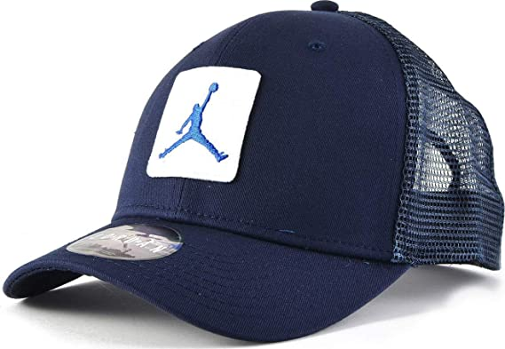 Jordan Gorra Visera Classic 99 Jumpman (Azul/Blanco): Amazon.es ...