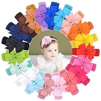 10-20pcs Newborn Baby Headbands Set Elastic Kids Girls Bow Hair Band Headdress