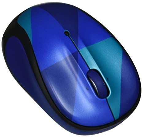 Logitech M325c Wireless Mouse 910-004459, Blue Harlequin
