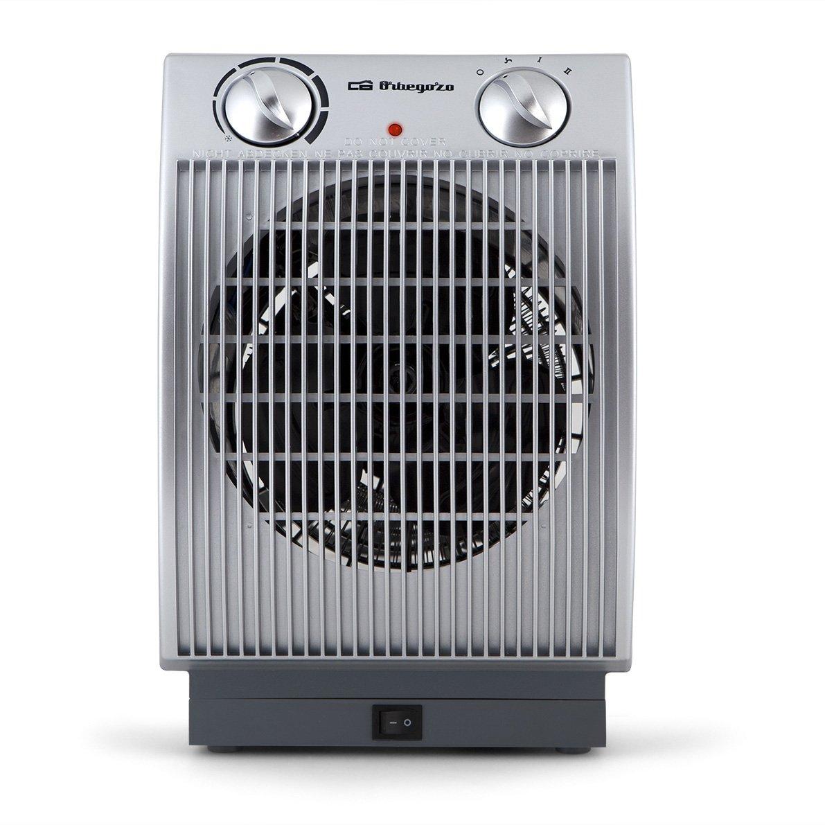 Orbegozo FH 6035 - Calefactor eléctrico con movimiento oscilante, 2200 W de potencia, 2 niveles de funcionamiento, modo ventilador: Amazon.es: Hogar
