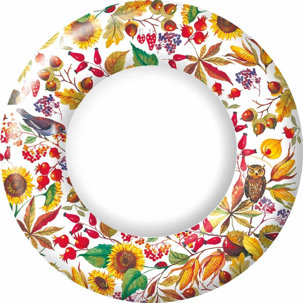 Ideal Home Range 8 Count Paper Plates, 10.5-Inch, Autunno Bellino