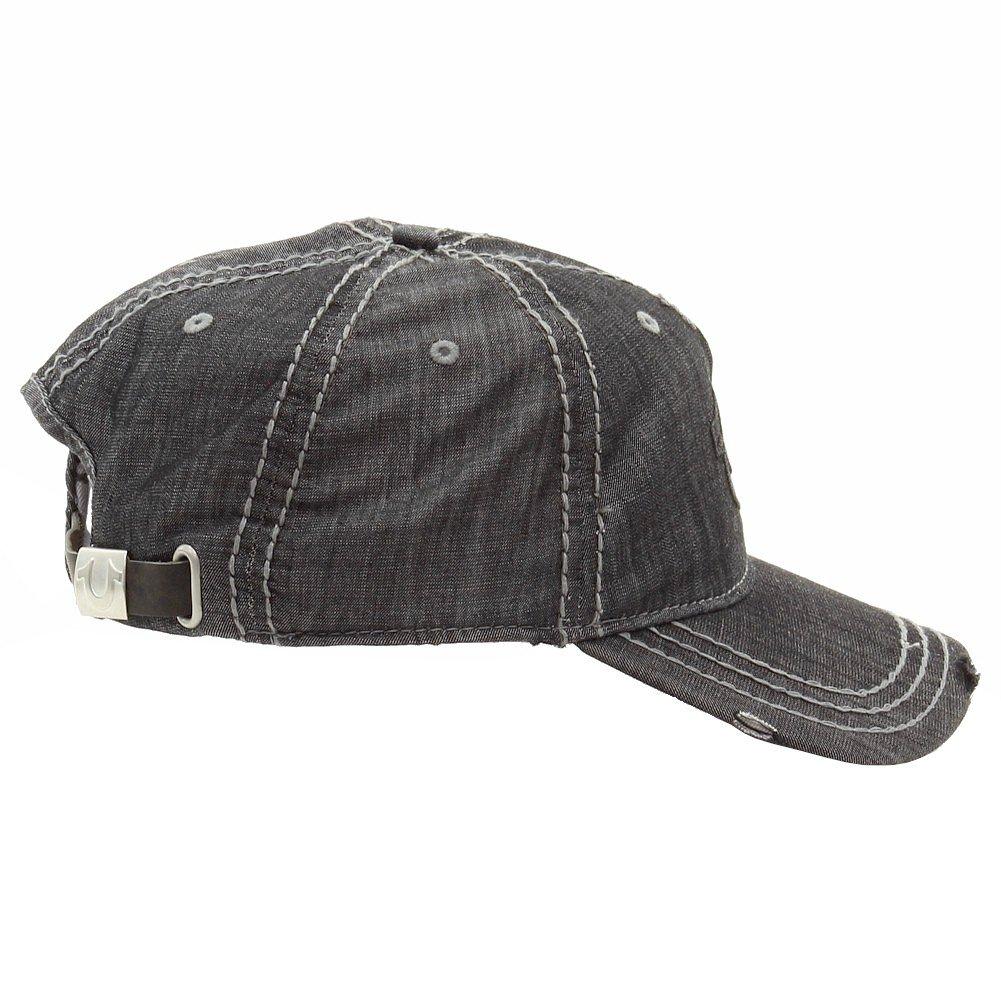 f1d8a6ac9b8ed7 Amazon.com: True Religion Men's Distressed Horseshoe Baseball Cap, Black,  One Size: Clothing