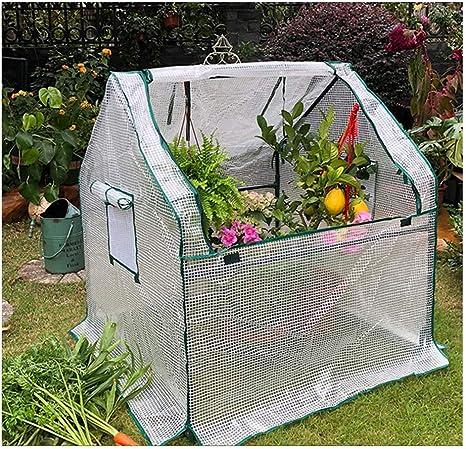LIANGLIANG- Invernadero de Jardín Jardín Vegetales Red Protectora Pequeña Casa Patio Plantando Flores (Color : White, Size : 90x90x90cm): Amazon.es: Hogar