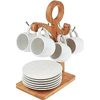 Pierre Cardin Charlıe Standlı 6lı Kahvaltı Fincan Seti