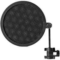 PS-2 Double Layer Studio Microphone Mic Wind Screen Pop Filter/Swivel Mount/Mask Shied for Speaking Recording