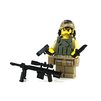 Battle Brick US Army Special Forces Sniper Value (SKU7) Custom Minifigure: Toys & Games