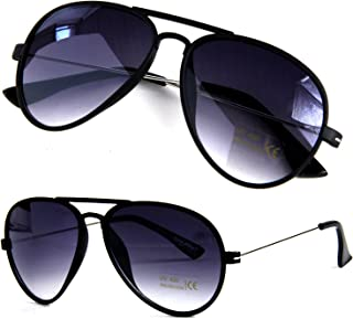 Pilotenbrille Matt Schwarz Metall Bügel 70er Style Fliegerbrille Sonnenbrille