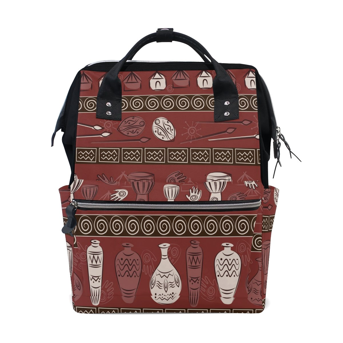 Diaper Bags Backpack Purse Mummy Backpack Fashion Mummy Maternity Nappy Bag Cool Cute Travel Backpack Laptop Backpack with African Floral Daypack for Women Girls Kids