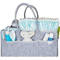 Putska Baby Diaper Caddy Organizer - Gift Registry for Baby Shower, Nursery Organizer, Neutral Baby Gift Basket…