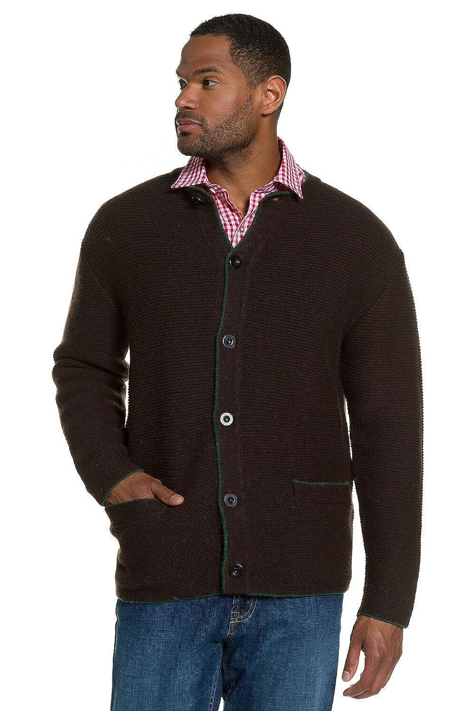 JP1880 Men's Big & Tall Traditional Wool Cardigan Sweater Brown Large 705706 30-L