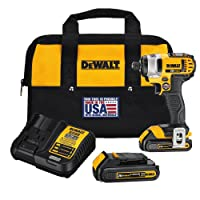 Lowes.com deals on DEWALT 20V Max Variable Speed Cordless Impact Driver 2-Battery