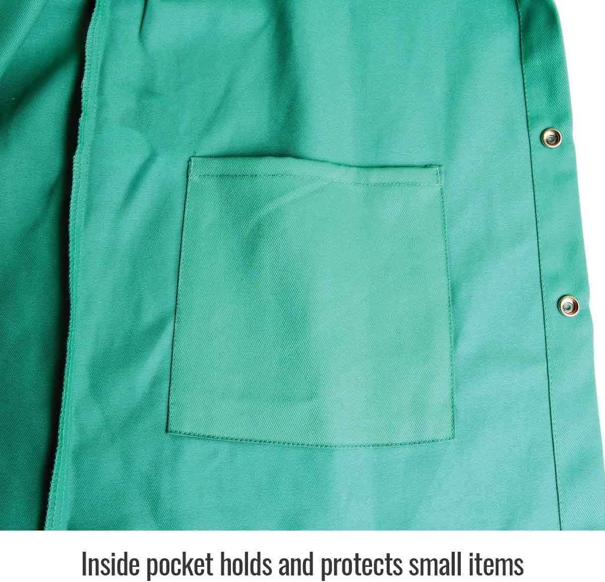 Revco Black Stallion Green 9oz FR Premium Cotton Welding Jacket F9-30C Large