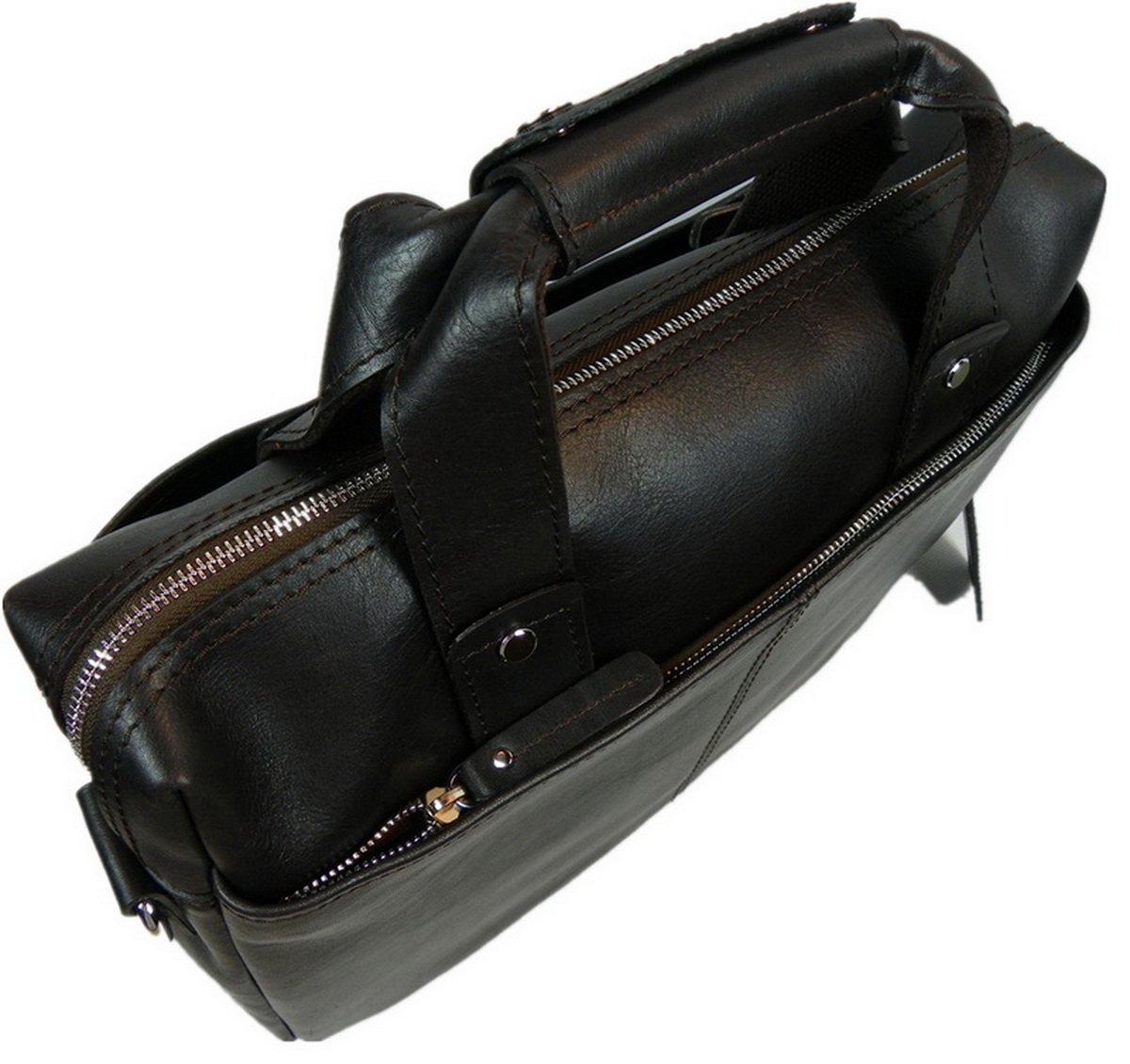Vagabond Traveler 15'' Classic Fine Leather Messenger Bag Daily Bag L29. Distress by Vagabond Traveler (Image #6)
