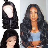 BLY Lace Front Wigs Body Wave Human Hair 10 Inch with Baby Hair for Black Women 150% Density Pre Plucked 13x4 Swiss Lace…