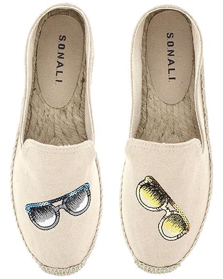 zapatos deportivos e8d5f b1ae6 SONALI - Alpargatas de Lona para mujer, color marrón, talla ...