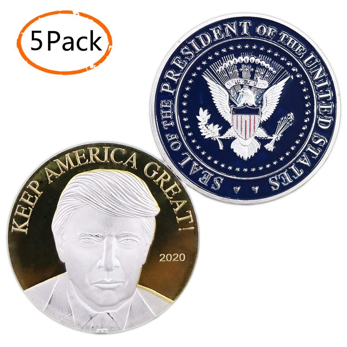 Amazon com: President Donald Trump Coin 2020, Silver Gold Plated