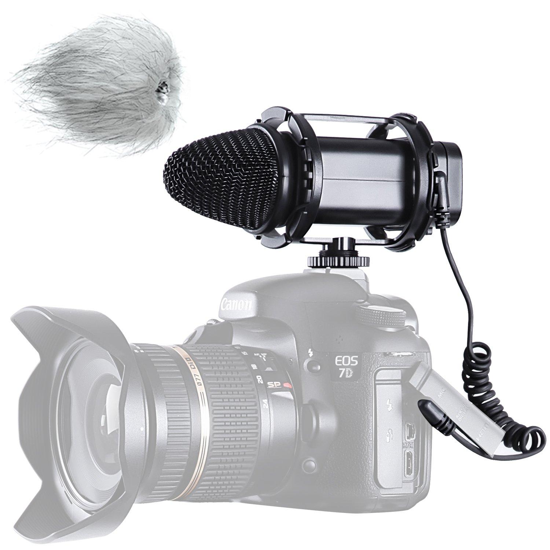 BOYA BY-V02 X/Y Stereo Kondensor Mikrofon für Canon 5D2 5D 6D 600DMark III 6D 600D Nikon D800 D800E D810 D600 D300 D7000 Sony DSLR Kameras, Camcorder BY--V002