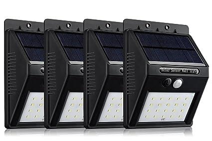 Lámpara solar de YAOWEI, 20 LEDs, para exterior, inalámbrica