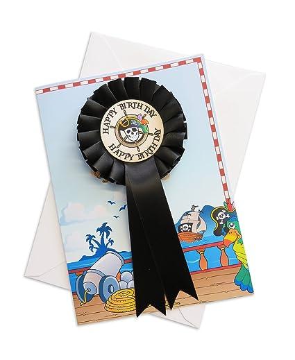 Feliz cumpleaños Rosette pirata personaliseitonline tarjeta ...