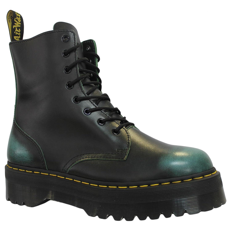 Dr.Martens Womens Jadon 8-Eyelet Leather Boots 39 EU|Green