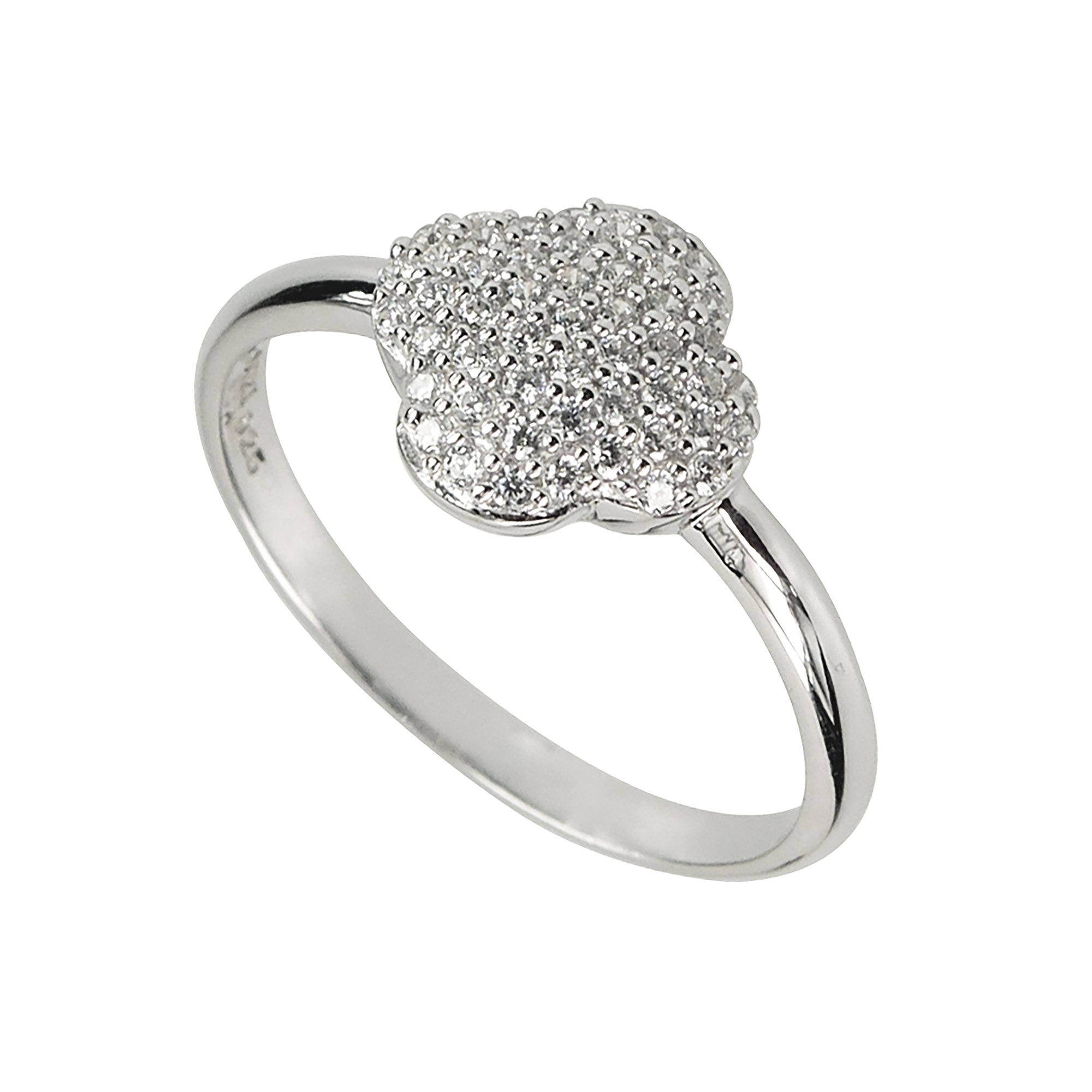 Aura by TJM Sterling Silver Micropave 0.20 cts White CZ Scallop Ring by Aura by TJM (Image #2)