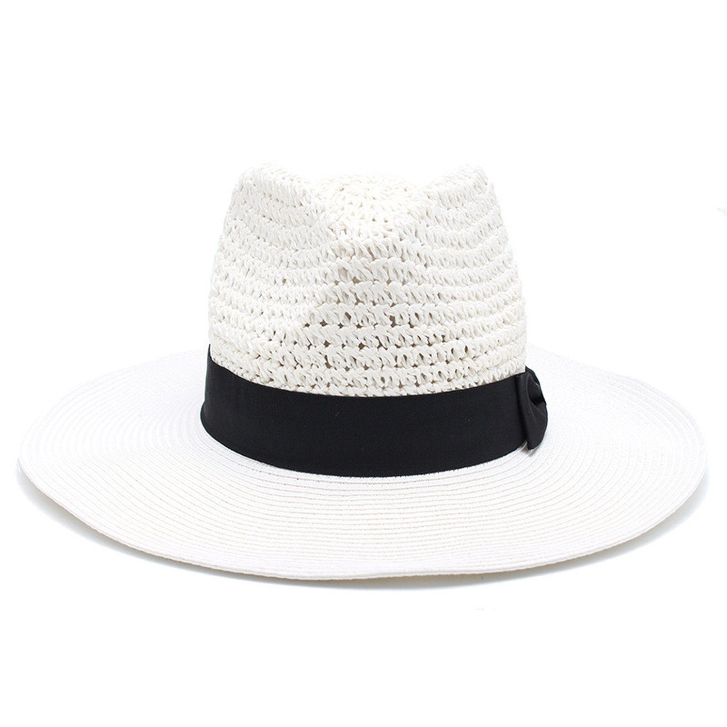2018 verano europeo y americano de la moda ganchillo jazz hat hombres y mujeres arco negro decoración aliexpress fuente,Blanco,Ajustable: Amazon.es: ...