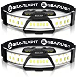 GearLight 180° Broad Beam LED Headlamp Flashlight F300 [2 PACK] - Wide Angle HeadLight/Headlamps for Running, Camping…