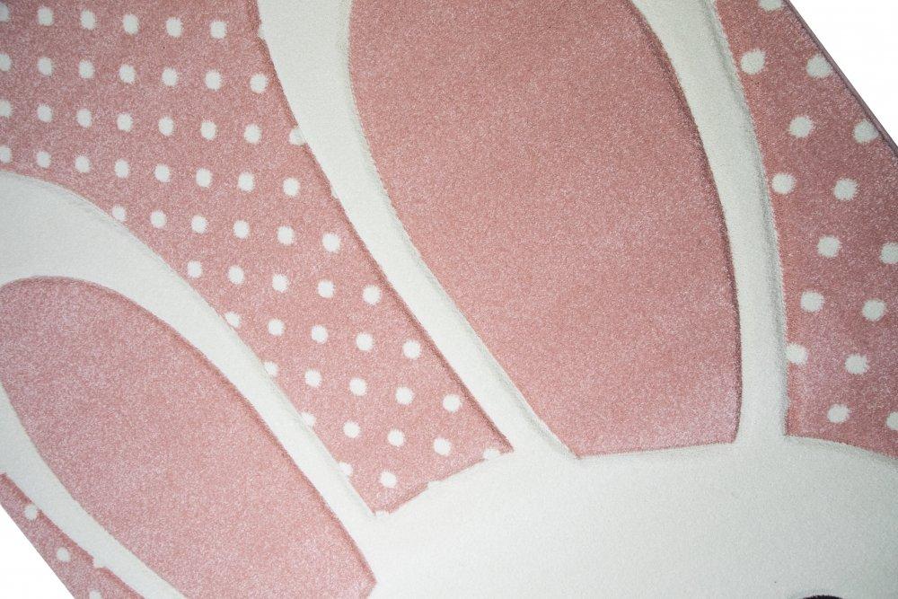 Kinderteppich Spielteppich Teppich Kinderzimmer Babyteppich Hase in in in Rosa Weiss Grau Größe 200 x 290 cm 0715ca