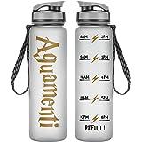 LEADO 32oz 1Liter Motivational Water Bottle w/ Time Marker, Aguamenti, HP Merchandise - Funny Mothers Day, Potterhead Birthda