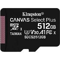 Kingston SDCS2/512GB Canvas Select Plus - Tarjeta microSD, Class 10 con adaptador SD