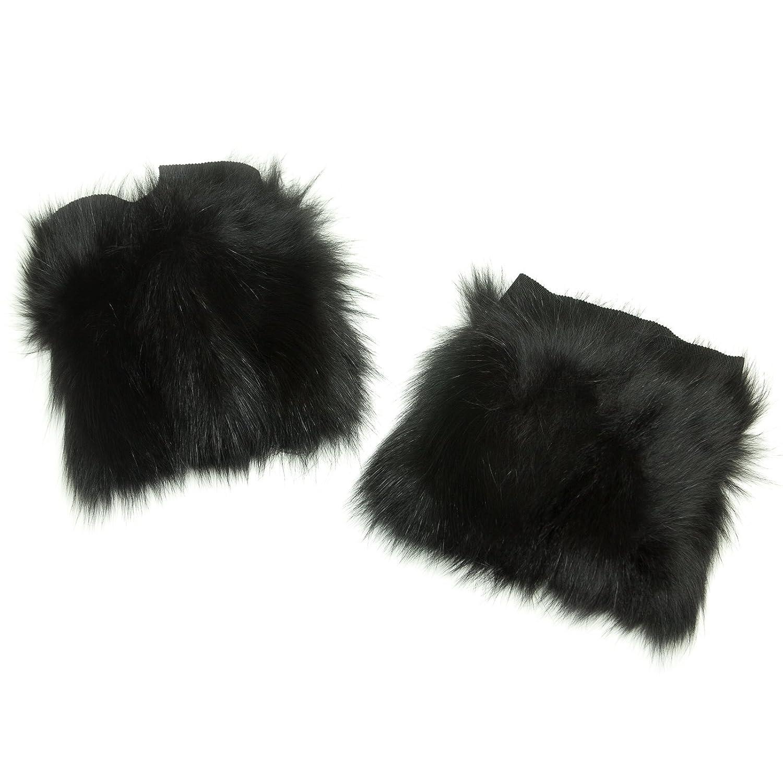'S Max Mara Women's Barone Fox Fur Cuffs One Size Black