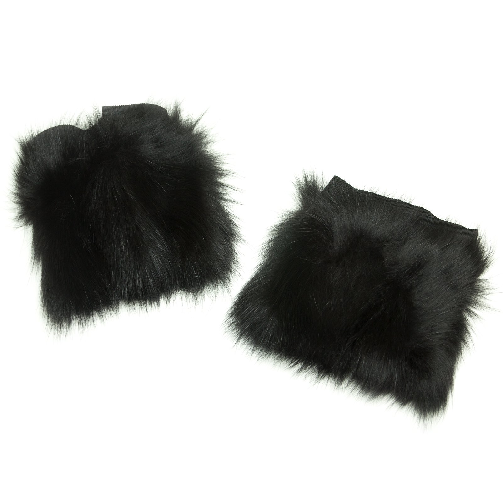 'S Max Mara Women's Barone Fox Fur Cuffs One Size Black by MaxMara