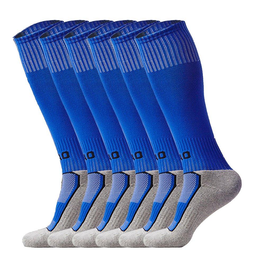LITAO SOCKSHOSIERY ユニセックスキッズ B074T8NHY4 Blue X 3 Blue X 3