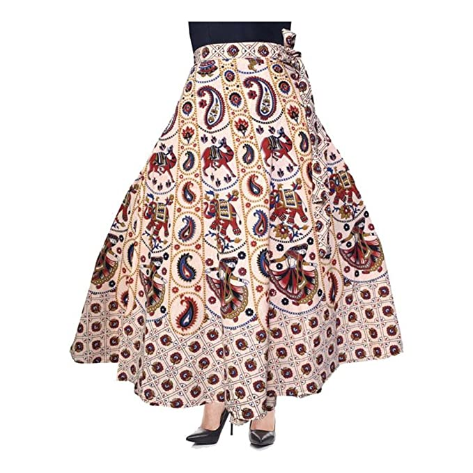 31fcc821 Eagle Eye Outfitters Printed Women's Wrap Around Multicolor Skirt at ...
