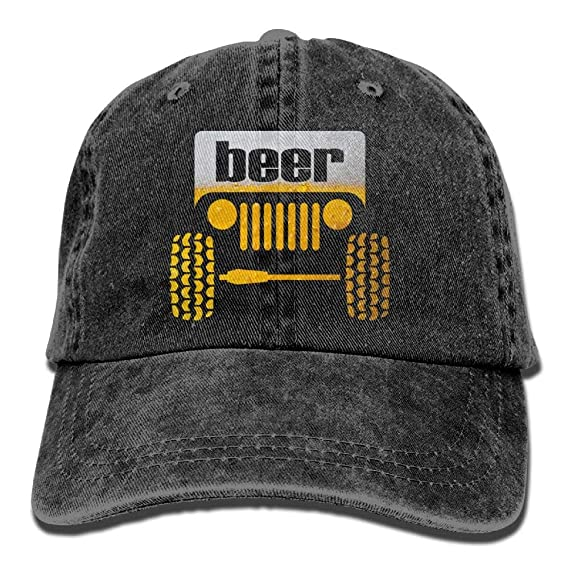 Xdevrbk Jeep Beer Denim Hat Ajustable Gran Gorra de béisbol New8 ...