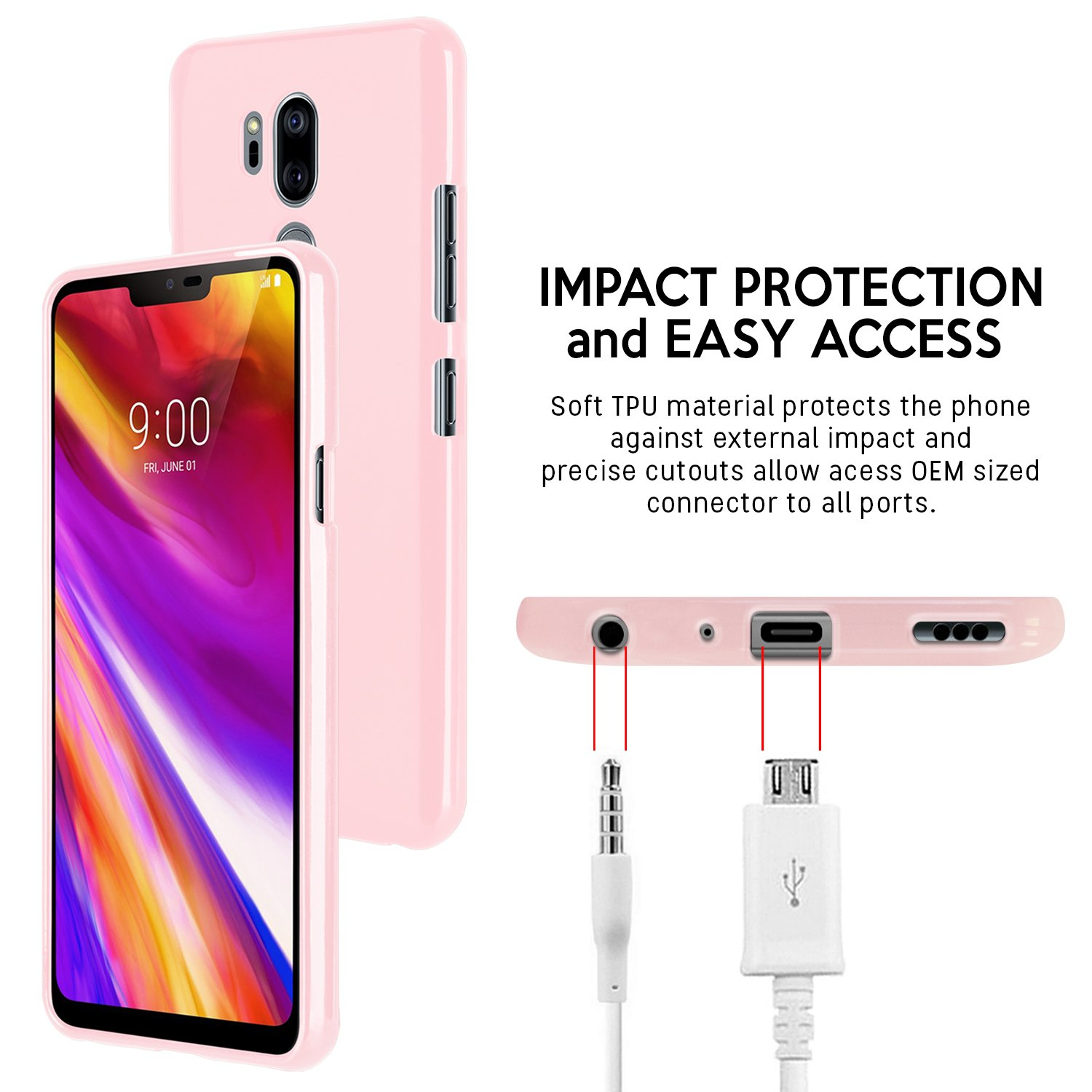 Lg G7 Thinq Case Thin Slim Goospery Flexible Color Iphone 5 Style Lux Jelly Black Pearl Rubber Tpu Lightweight Bumper Cover Impact Resistant For