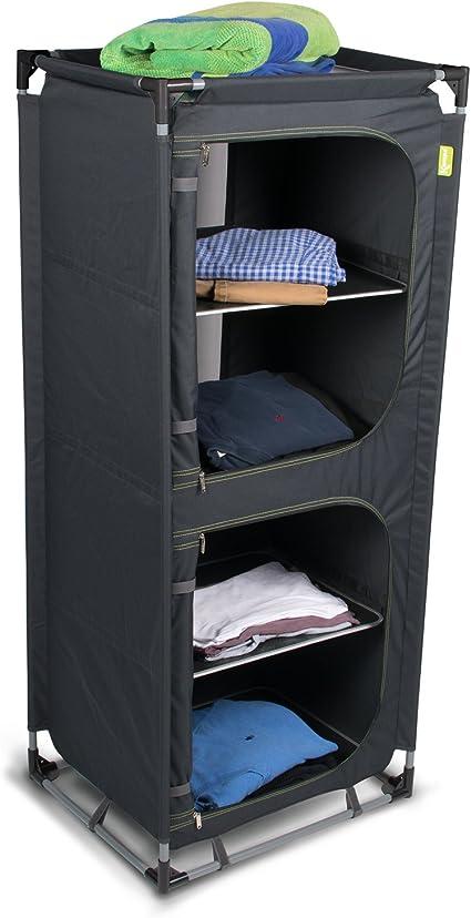Armario con 4 estantes (estructura de aluminio fácil de montar ...