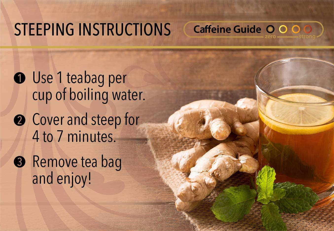 Buddha Teas Organic Turmeric Ginger Tea, 18 Bleach Tea Bags – Caffeine Free, Antioxidant, Antiviral, and Anti-Inflammatory, Immune Boosting Tea. Supports Digestion, No GMOs