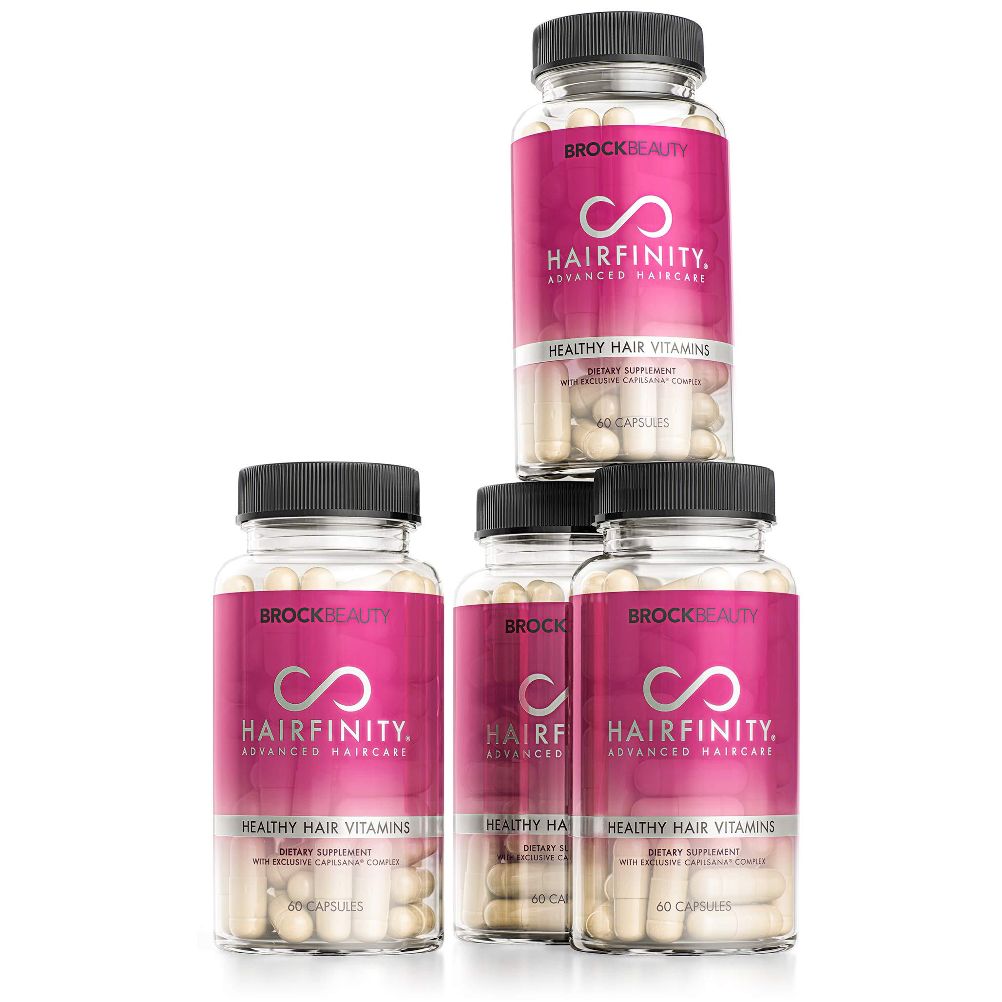 Hairfinity Hair Vitamins - Scientifically Formulated with Biotin, Amino Acids, and a Vitamin Supplement That Helps Support Hair Growth - Vegan - 240 Veggie Capsules (4 Month Supply)