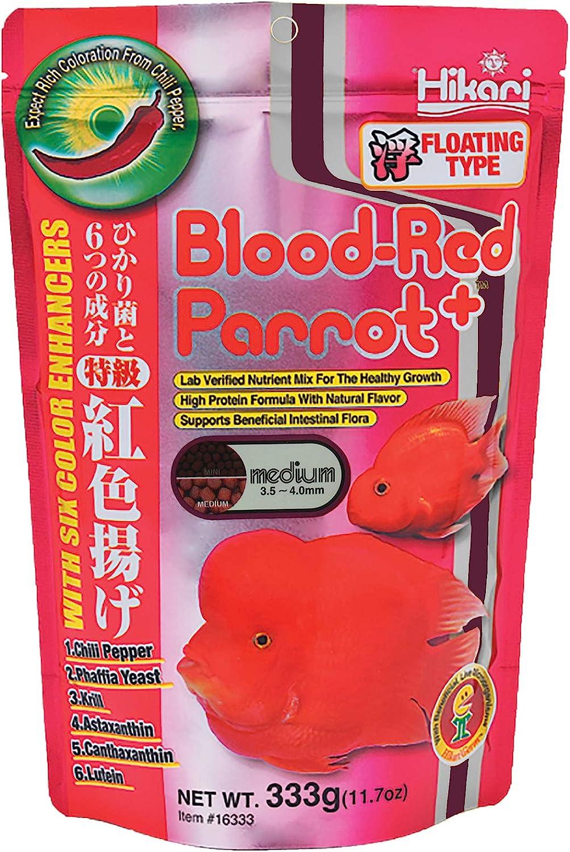 Hikari Blood Red Parrot+ Fish Food, Medium Pellet, 11.7 oz. (333g)