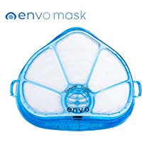 ENVO N95 Respiratory Face Mask with Replaceable Air Filters - Excellent Virus and Bacteria Protection. (Full Protection. Best in Class with Complete Seal of Nose and Mouth with Soft Gel).