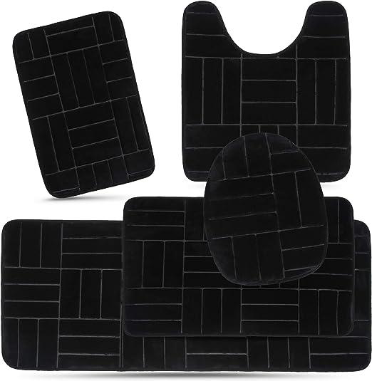 Amazon.com: Effiliv Bathroom Rugs Set 5 Piece Memory Foam Mats