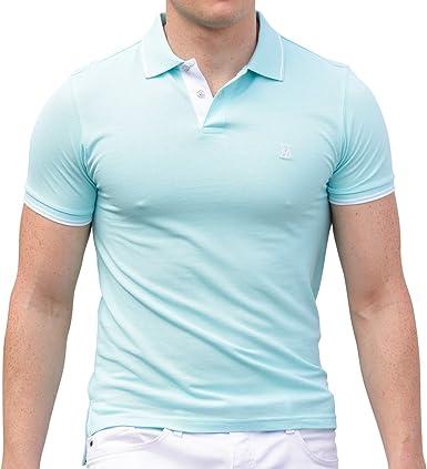 AsdruMark Men's Polo Shirt, Aquamarine