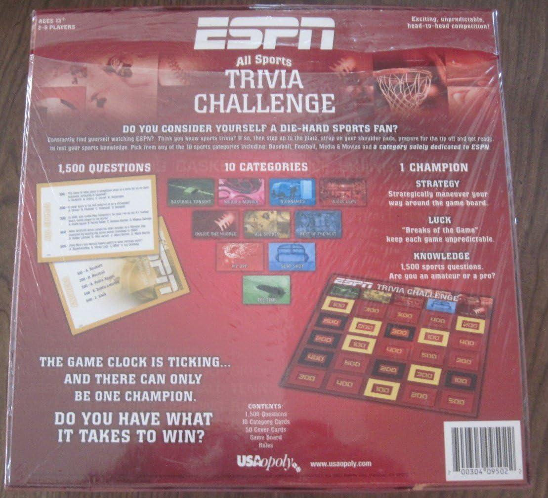Amazon Com Usaopoly Espn Trivia Game Toys Games