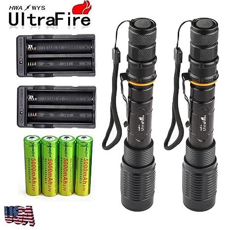 Amazon 2 Sets 8000 Lumens 5modes Ultrafire Swat Xml T6 Led