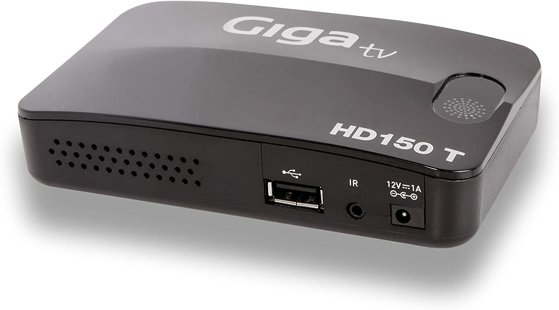 GigaTv HD150 T - Mini sintonizador para TV (TDT HD, USB, HDMI), Color Negro: Amazon.es: Electrónica