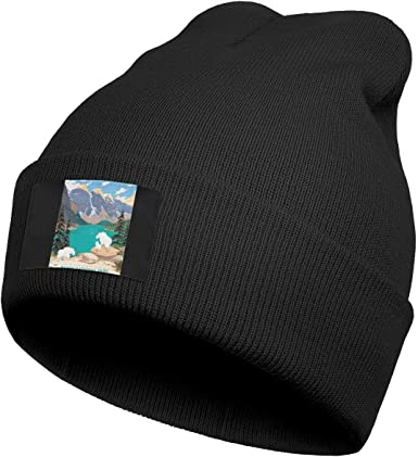 Mens Knitting Beanie Zion-National-Park Caps Perfect for Running