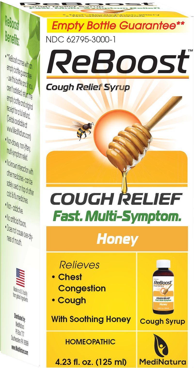 ReBoost Cough Relief Syrup, 4.23 Ounce by MediNatura