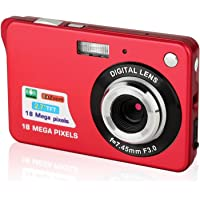 Digital Cameras,Mini Camera Camcorder Point and Shoot Camera 2.7inch 18MP 8x Digital Zoom for camera Kids/Seniors/Learner(Red)