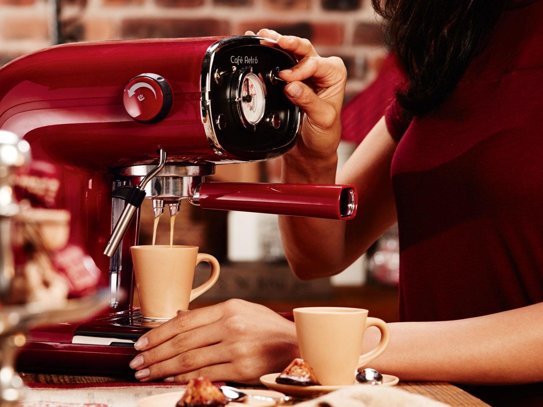 Silvercrest® Cafetera expreso semr 850 A1 beige: Amazon.es: Hogar
